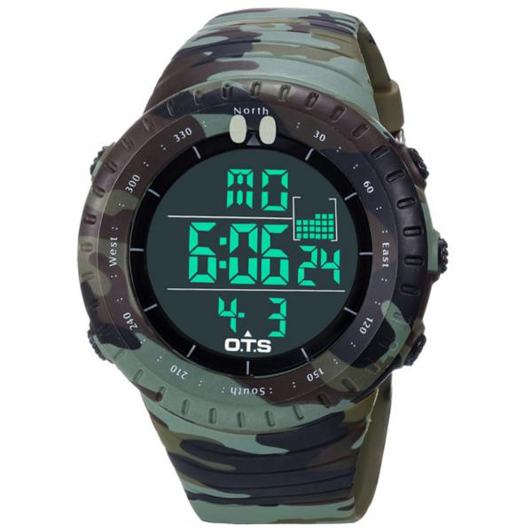 Buy OTS 7005 Fashion Men Digital Watch Camouflage Strap LED Swimming Sport