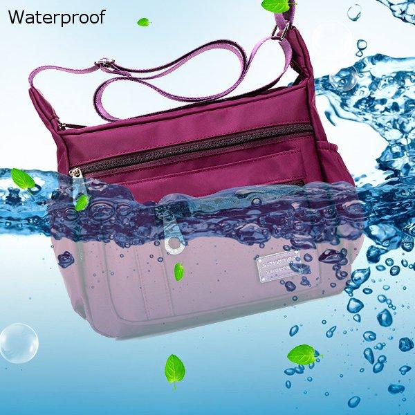 de0fdebeed82 Women Men Nylon Waterproof Bags Casual Outdoor Sports Lightweight Shoulder  Bags Crossbody Bags