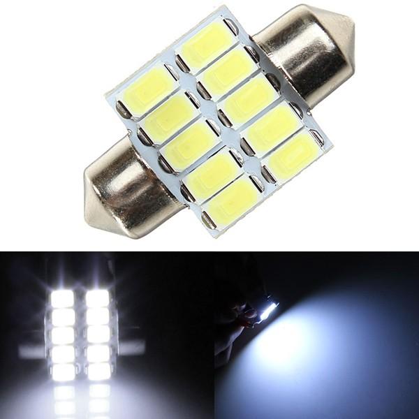 39MM 5630 10SMD Festoon Dome Map Interior LED Light Lamp BulbReading Light