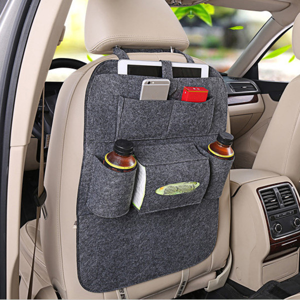 Auto Car Seat Storage Bag Hanger Car Seat Cover Organizer Multifunction Vehicle Storage Bag