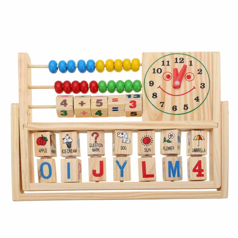 Wooden New Multi-Purpose Computation Frames Versatile Flap Abacus - Photo: 2