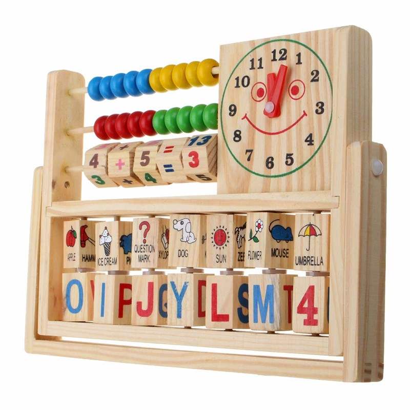 Wooden New Multi-Purpose Computation Frames Versatile Flap Abacus - Photo: 1