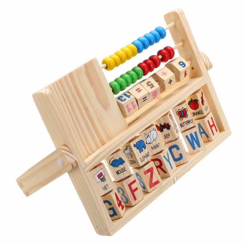 Wooden New Multi-Purpose Computation Frames Versatile Flap Abacus - Photo: 3