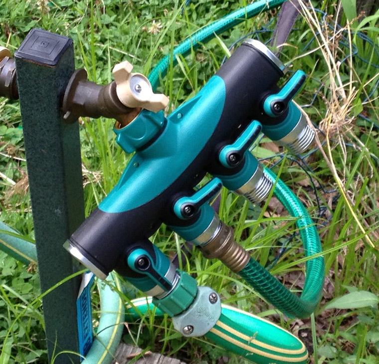 4 way garden hose splitter