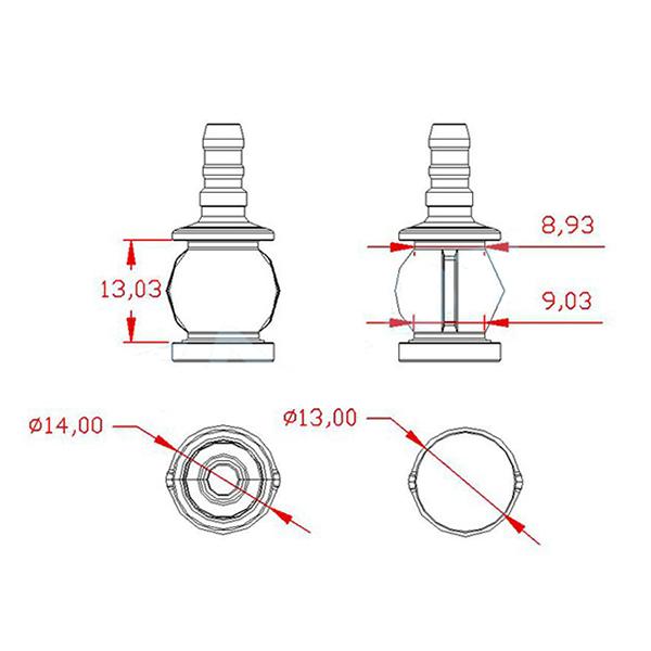 3PCS Tarot Damping Ball for 10-30 High Multiple HD Zoom FPV Gimbal Medium-sized/Small-sized - Photo: 2