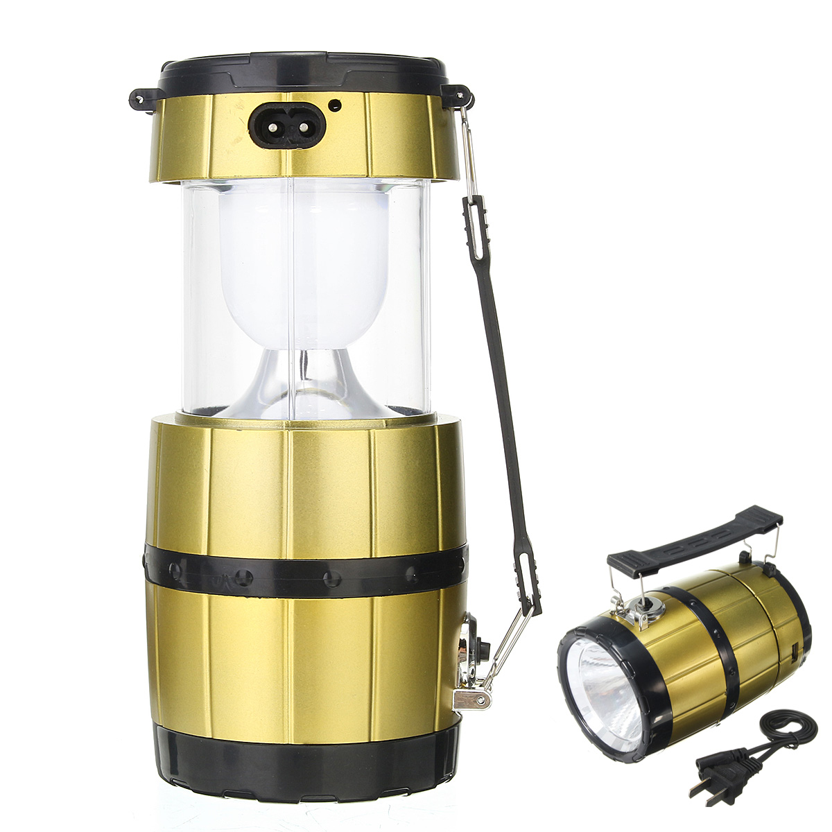 IPRee Portable Camping Tent Solar Lantern Collapsible H
