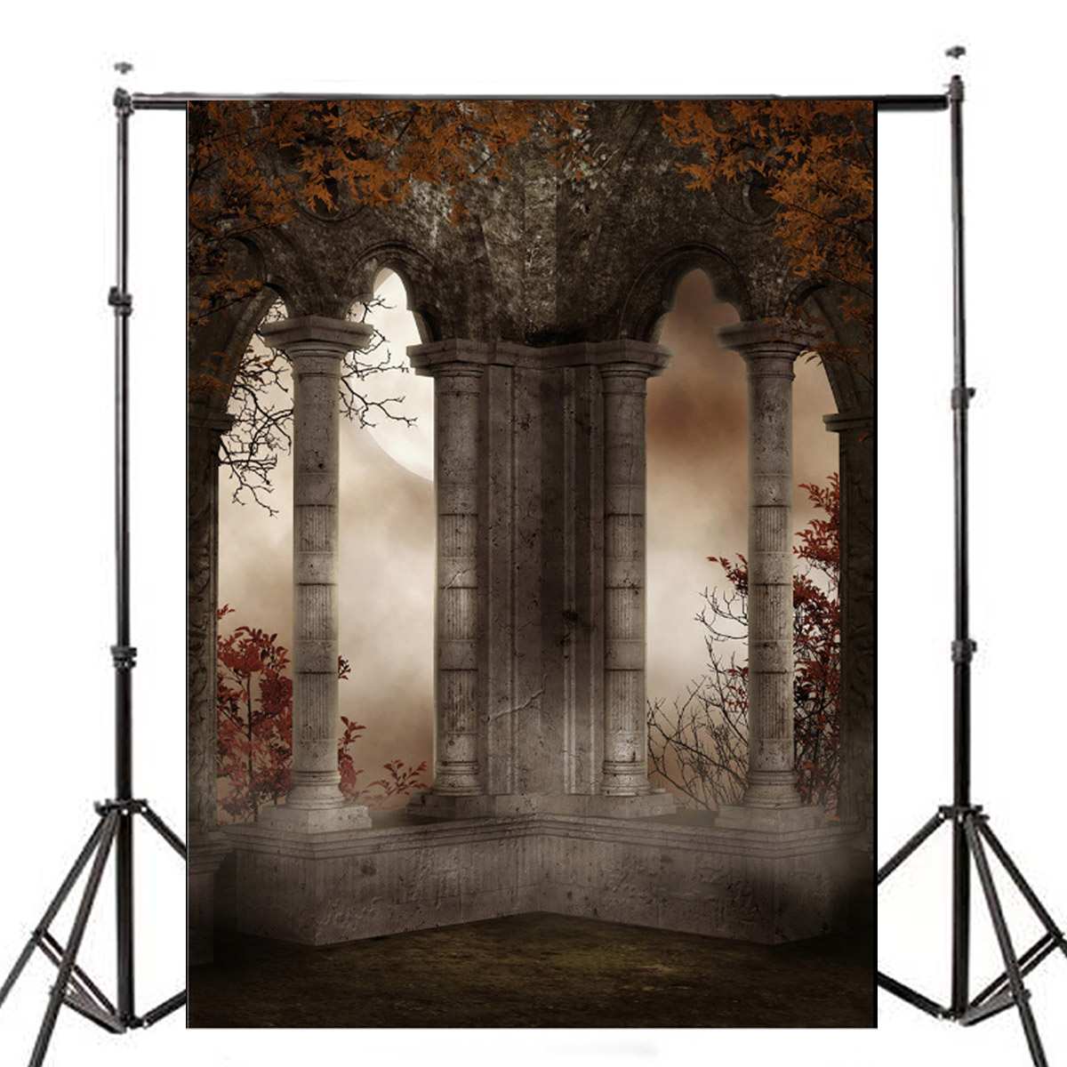 5x7FT Retro Vinyl Terror Castle Studio Photography Back