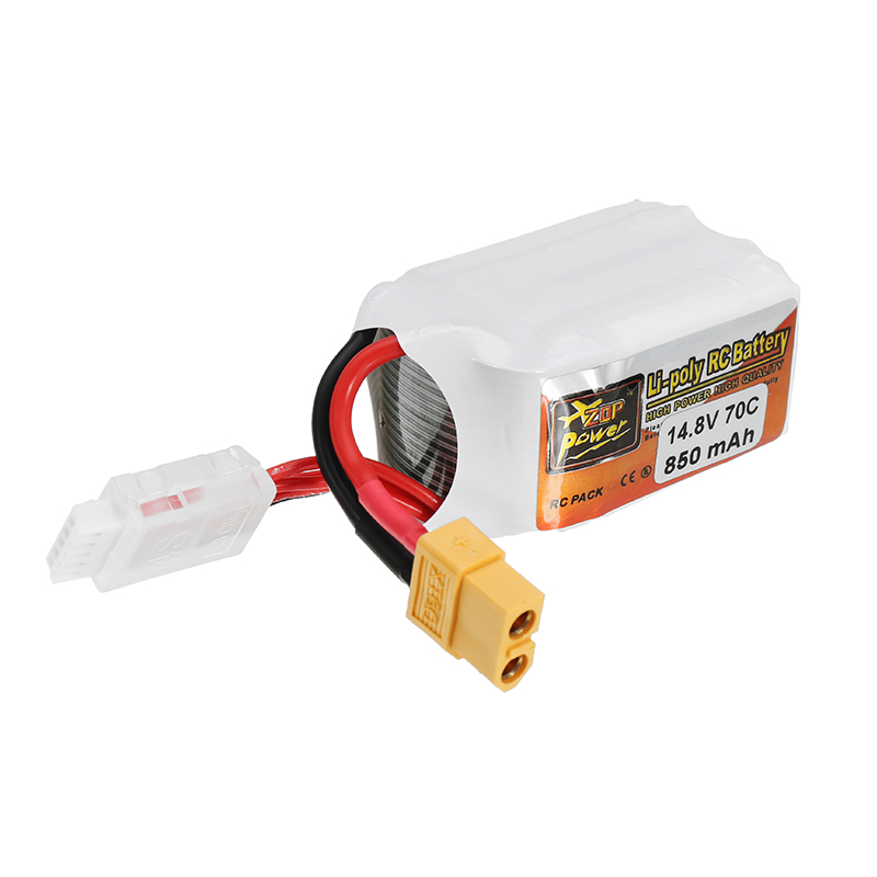 ZOP Power 14.8V 850mAh 70C 4S Lipo Battery XT60 Plug