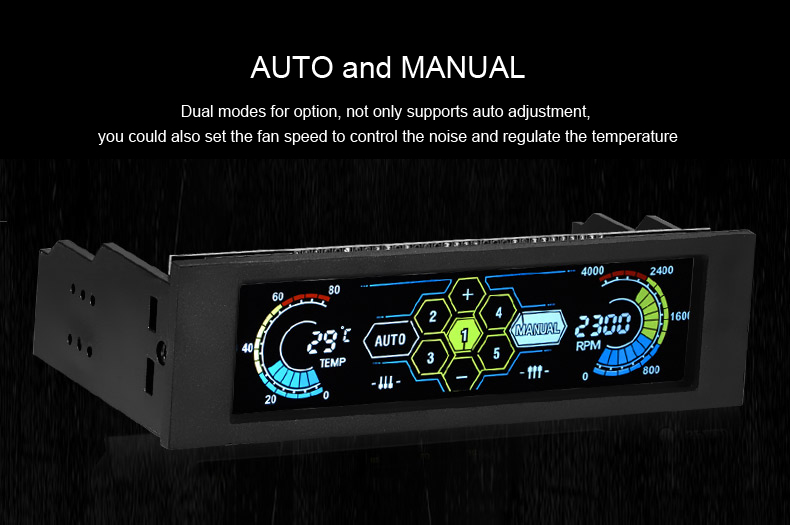 Fan Monitoring System : Stw inch lcd front panel cpu cooling fan speed