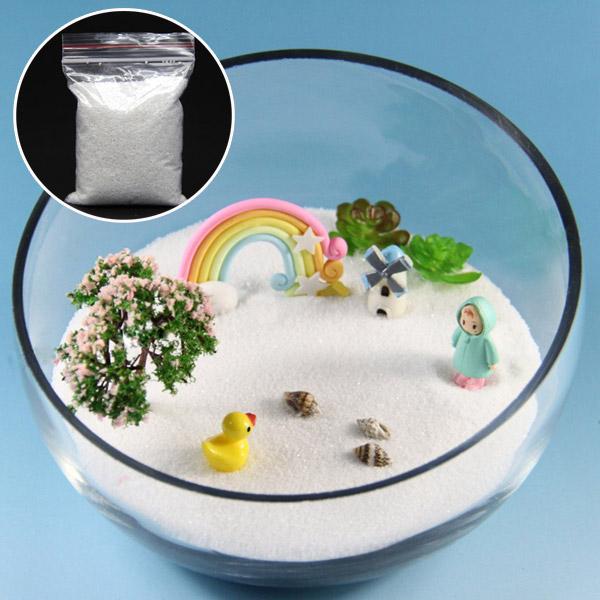 80g DIY Micro Landscape White Sand Decoration Garden Succulent Plants Flowerpot Decor