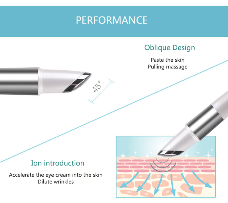 LuckyFine Facial Thermal Heat Face Lift Device High Vibration Electric Eye Wrinkle Remover Massage Beauty Pen