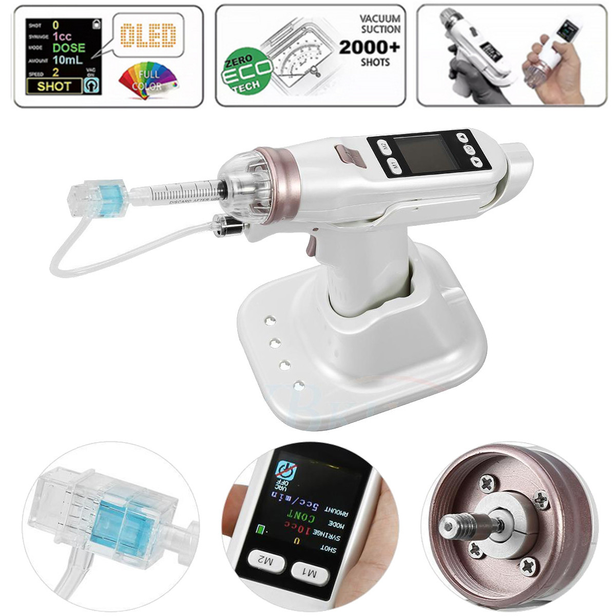 Hydro Vacuum Injection Mesotherapy Meso Gun Vital Acid Injection Wrinkle Removal Facial Skin Care