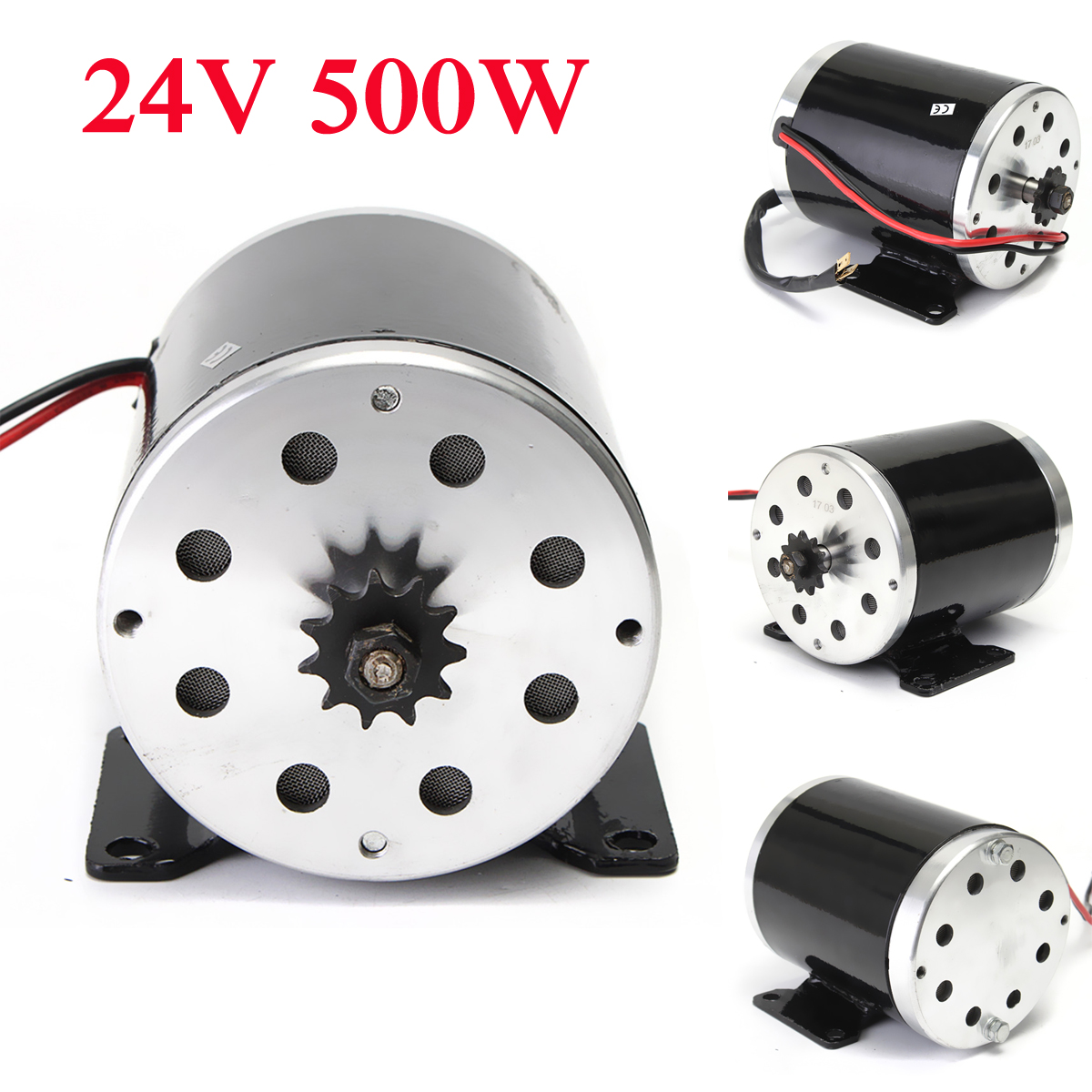 24v 500w 28 5a electric brushed motor 2800rpm w bracket for Abc electric motor repair