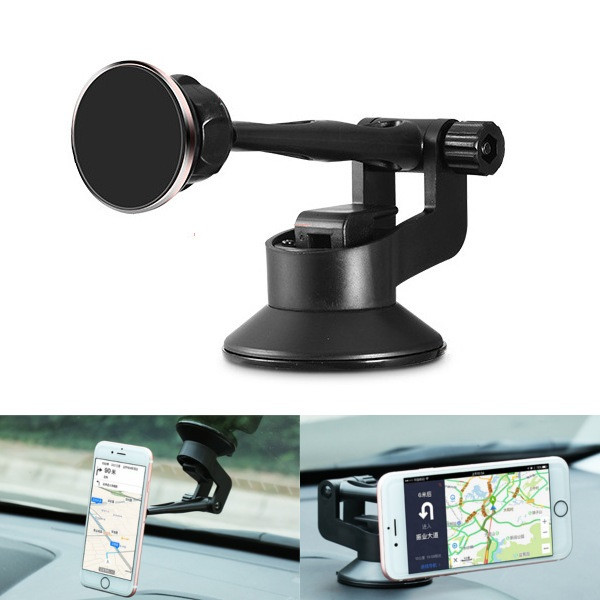 ABS Aluminum Alloy Suction Cup Magnetic Absorb Car Navigation Phone Holder