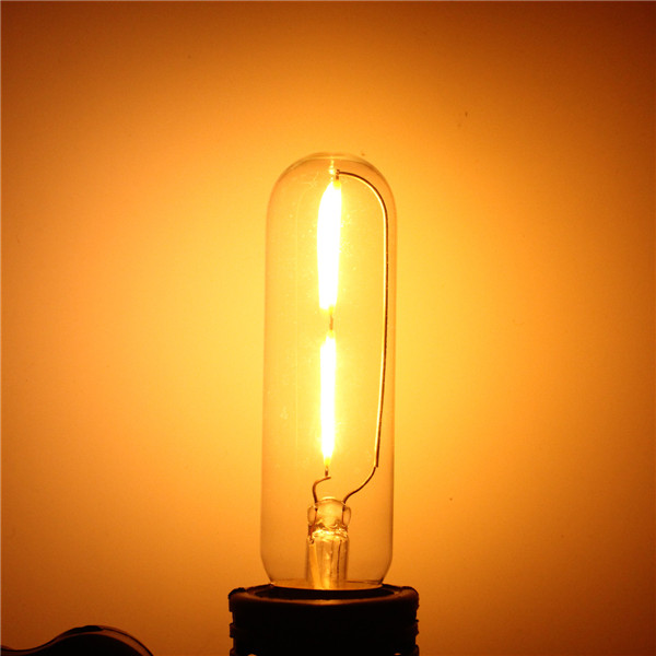 Buy E27 T10 2W LED COB Filament Light Bulb Edison Vintage Retro Lamp AC 220V