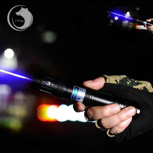 Buy U King ZQ-J16 450nm Blue Powerful Buring Laser Flashlight Suit EU Charger