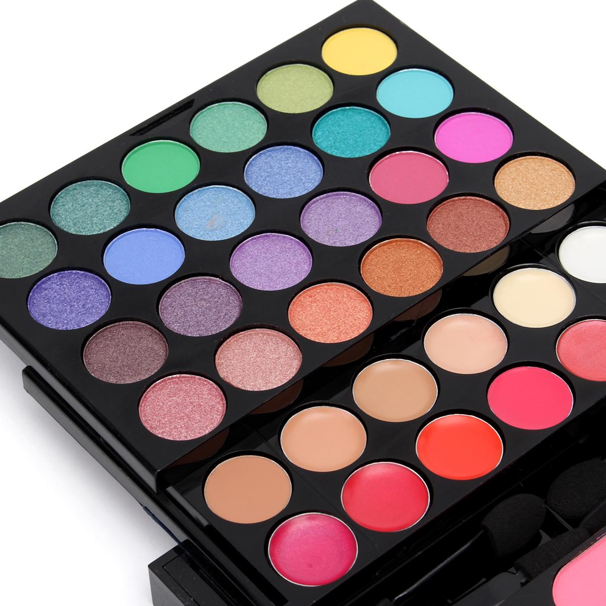 78 Colors Makeup Set  Kit Shimmer Matte Eyeshadow Lip Cosmetic Shaping Blush