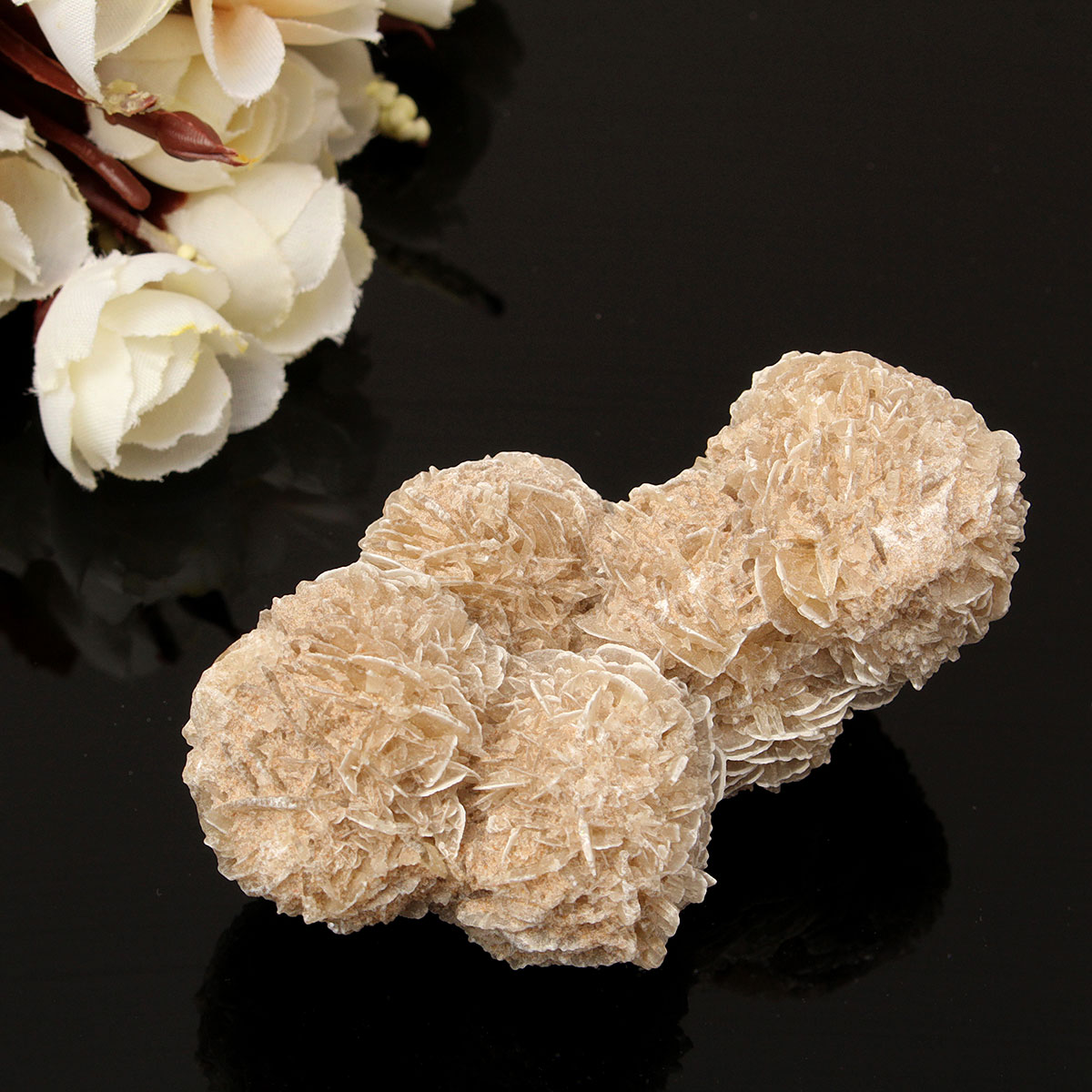 Buy DIY Jewelry Accessories 100g Natural Selenite Crystal Stone Flower Decoration