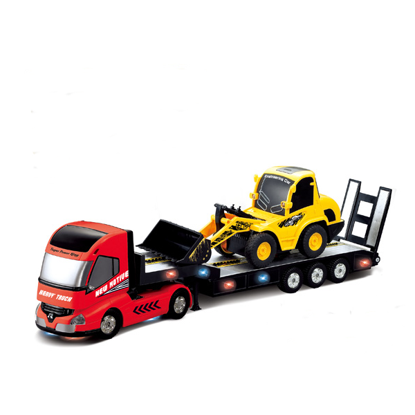 QINGYI MINI RC Toy 1:32 6CH RC Trailer With 1:20 6CH RC Dump Truck   - Photo: 2