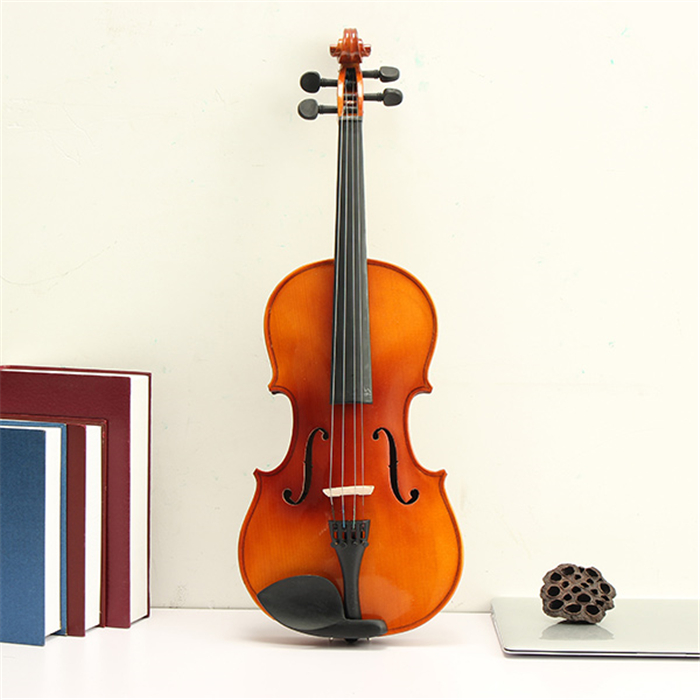 Aston 16 Inches Spruce Wood Tiger Stripe Viola with Case Bow Rosin  AU-20 - Photo: 2