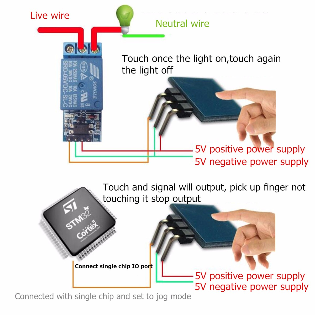 Single Wire Touch Switch Center Wiring Diagram Ttp223b Digital Sensor Capacitive Module For Rh Alexnld Com Light