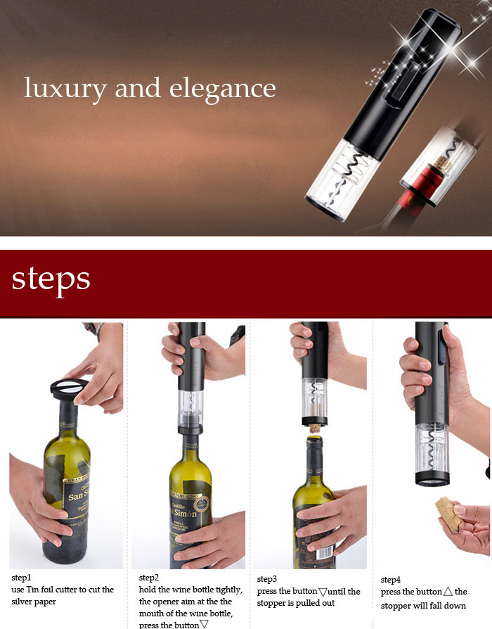 Automatic Wine Opener Automatic Electric Wine Bottle Opener