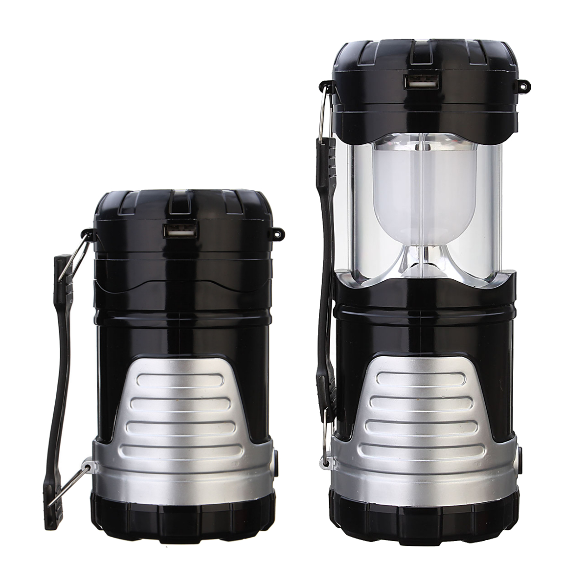 Camping Retractable Tent Solar Lantern Portable Led Usb