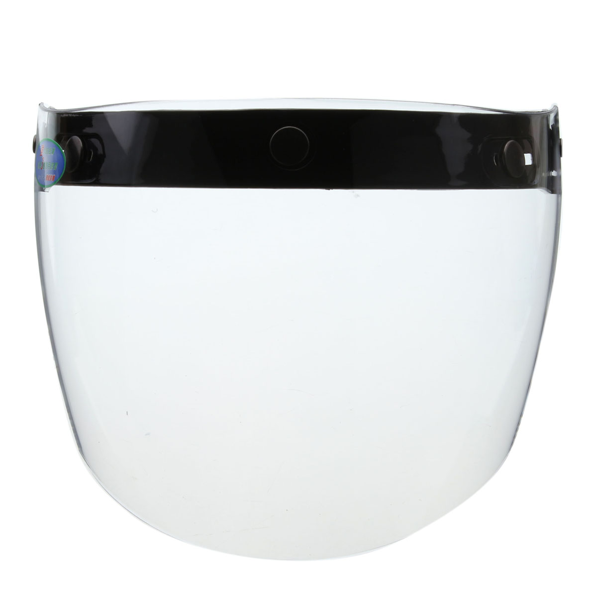 3 Snap Flip Up Visor Wind Shield Lens For Open Face Motorcycle Helmet image