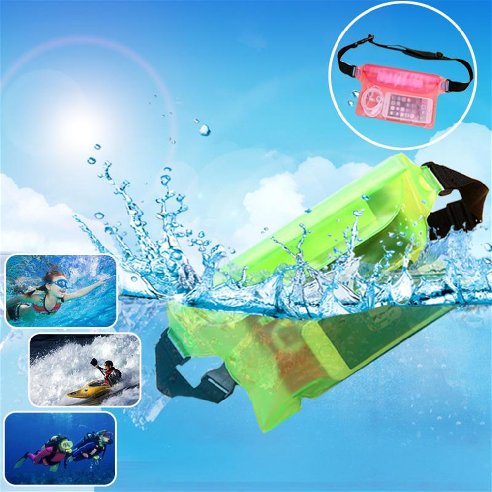 IPRee™ Travel Beach Swim Dry Bag Waterproof Surf Diving Waist Pack PVC Touch Screen Phone Camrea Storage Pouch