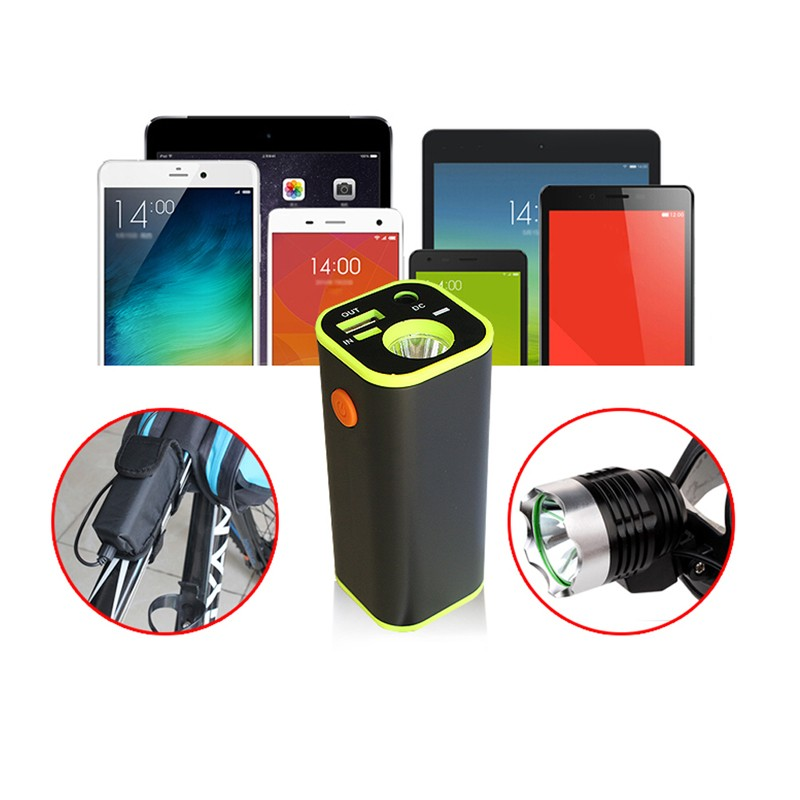 Buy BIKIGHT 18650 Battery Box USB Charger LED Light Mobile For Bike Bicycle Phone Tablet Audio Player Power Bank with Portable Bag