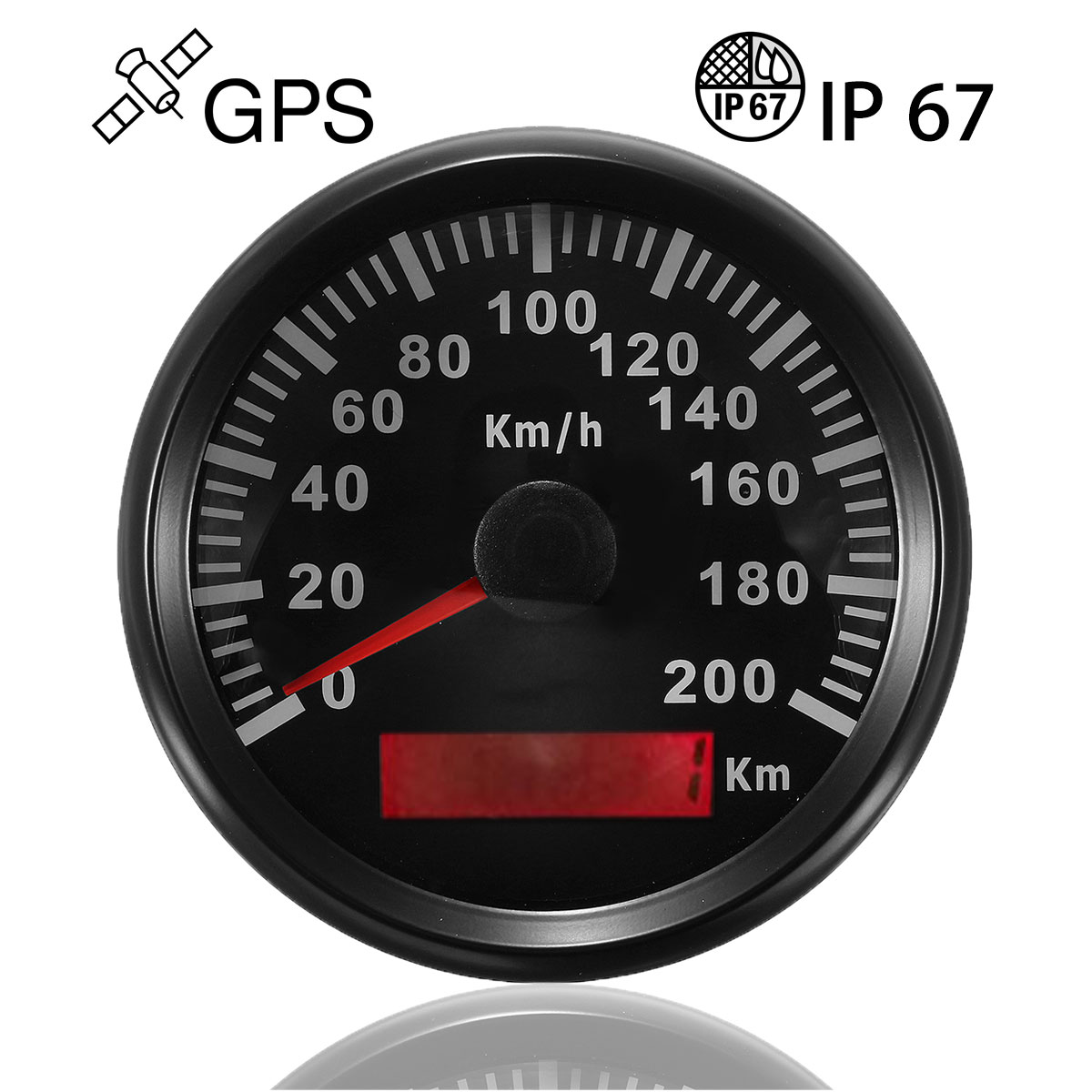 85mm 200 km h stainless gps speedometer waterproof digital gauges car motorcucle alex nld. Black Bedroom Furniture Sets. Home Design Ideas