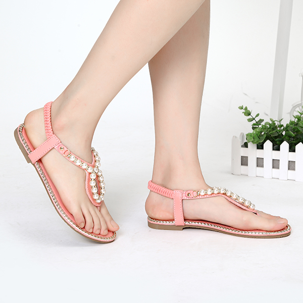 US Size 5-11 Flat Sandals Women Casual Beach Outdoor Shoes