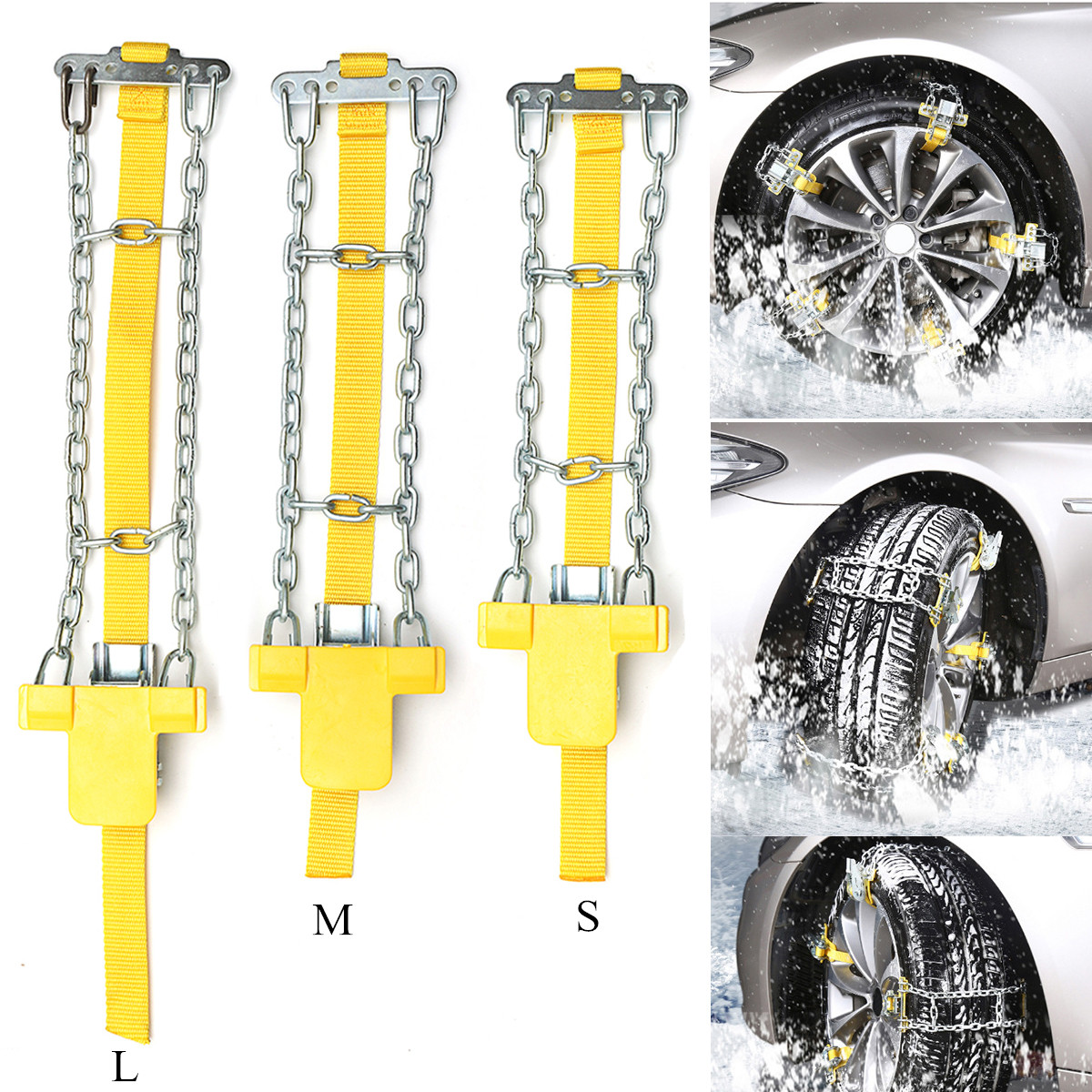 Auto Anti Skid Steel Chains Car Skid Belt Snow Mud Sand