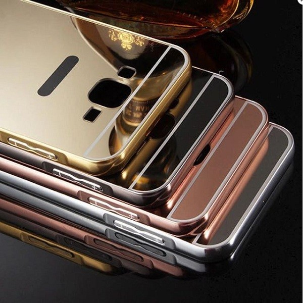 Buy Mirror Aluminum Metal Frame Plating Acrylic Back Cover for Samsung Galaxy ON7