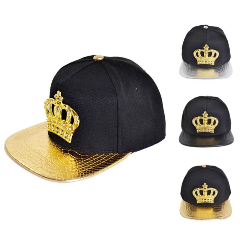 Women Snapback Hats Crown KING Baseball Caps Men Adjustable Hip Hop Hats