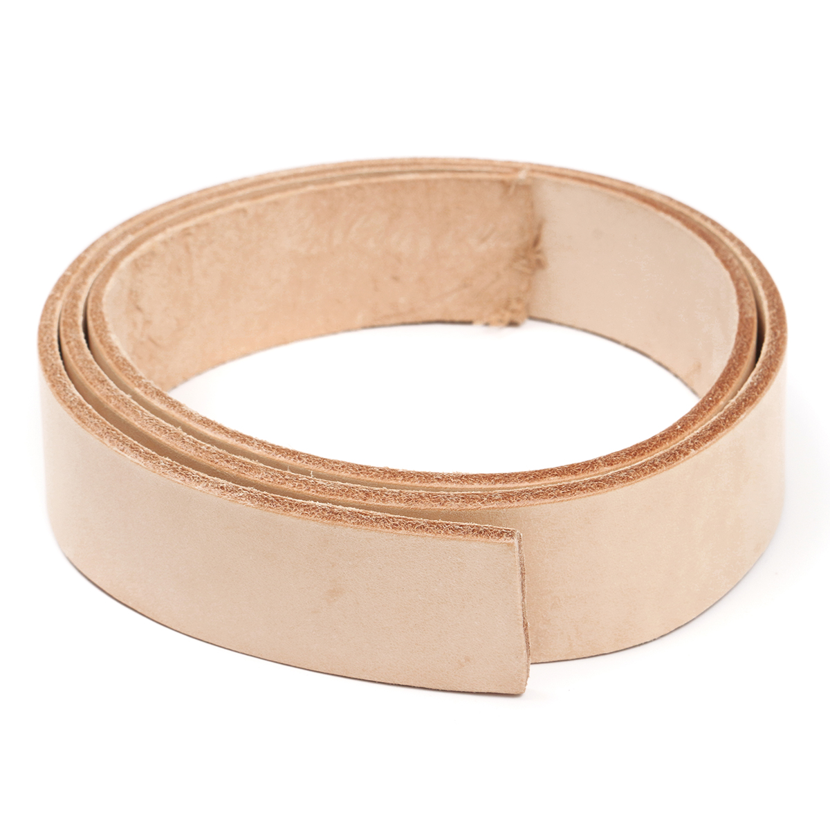 110cm Leather Belt Strap Natural Vegetable Tanned Cow H