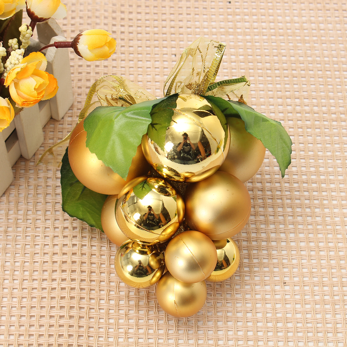Christmas Ball Grape Strings Tree Decoration Ornaments Pendant Ball Hanging Adornments - Photo: 5