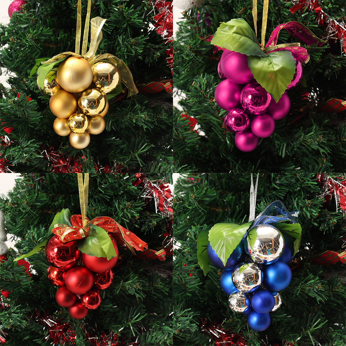 Christmas Ball Grape Strings Tree Decoration Ornaments Pendant Ball Hanging Adornments - Photo: 1