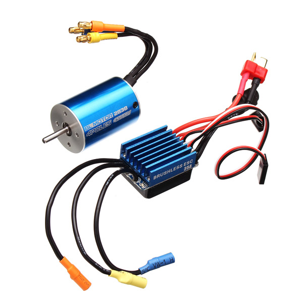 2838 Sensorless Waterproof Motor 3600/4500KV 35A ESC For 1/12 1/14 Cars - Photo: 1