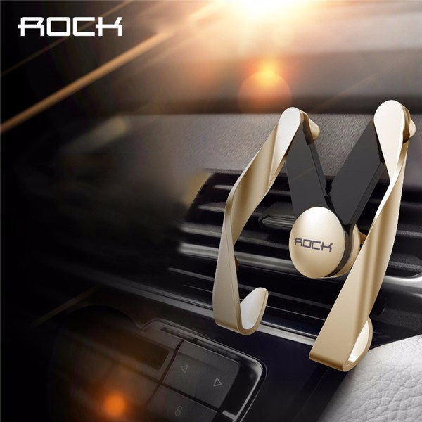 ROCK M AutoBot Phone Stand Car Air Vent Mount Holder for under 7 inches Cellphone