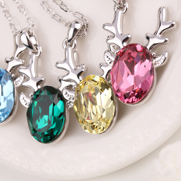 Crystal Deer Sweet Casual Party Clavicle Necklaces
