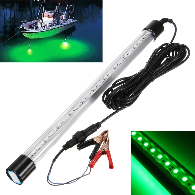12v 60cm led green fishing light underwater submersible for Submersible fishing light