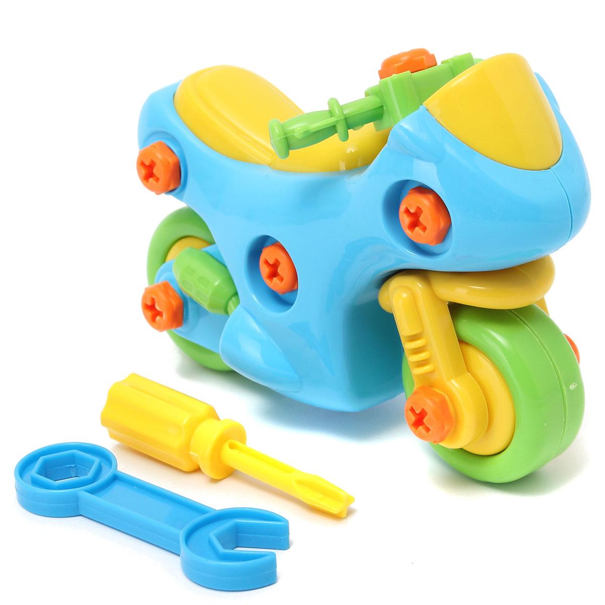 Baby Boy Toys : Motorcycle shape kids child baby boy disassembly assembly
