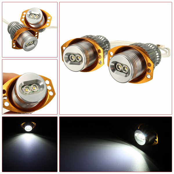 For BMW 5-Series E60 E61 LCI XML T6 LED 20W Angel Eyes