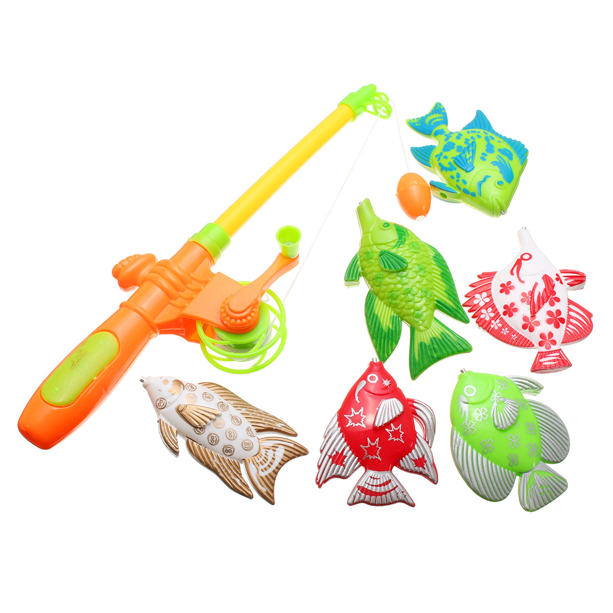 Education Magnetic Fishing Toy With 6 Fish And A Fishing Rod