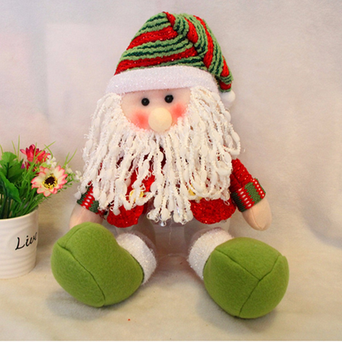 Lovely Snowman Santa Claus Candy Round Jar Bottle Christmas Kid Toy Doll Gift Decor - Photo: 6