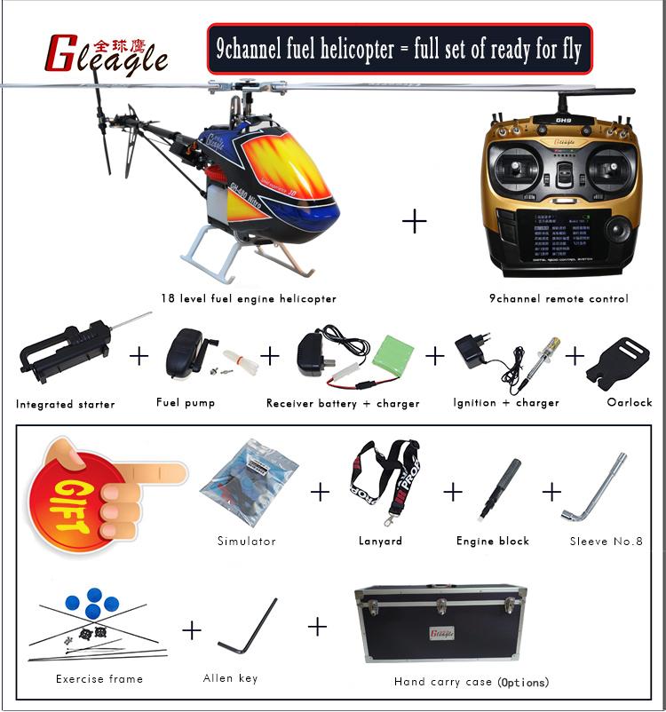 Global Eagle 480N Gleagle 480N 2.4Ghz 9CH DFC Fuel Oil Nitro RC Helicopter RTF - Photo: 4