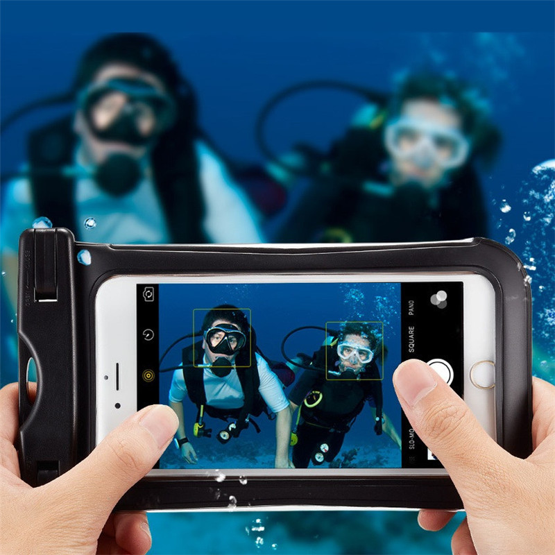 Universal IPX8 Waterproof Clear Touch Screen Phone Case