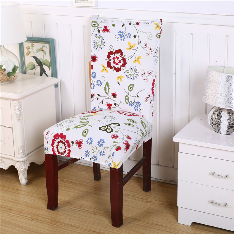 Buy removable elegant chair cover stretch slipcovers short for 6 dining room chair covers