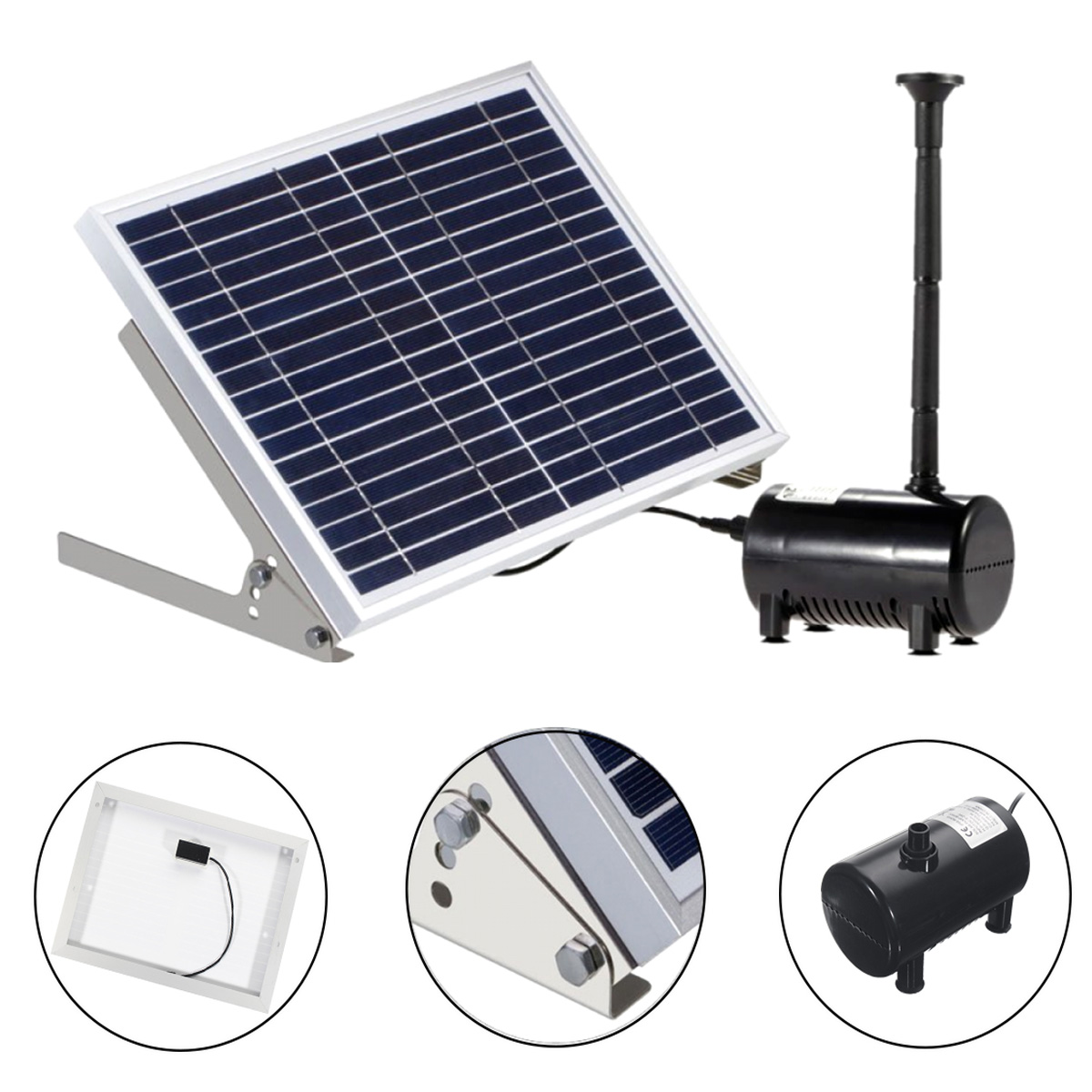 Solar Power Powered Water Fountain Pump